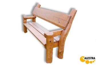 Celodřevěná akátová lavička ALESTRA